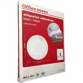 ETIQUETAS LASER INKJET CD OFFICE DEPOR CON 100 PZ - Envío Gratuito