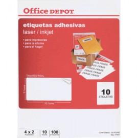 ETIQUETAS LASER INKJET 5.1X10.1 OFFICE DEPOT - Envío Gratuito