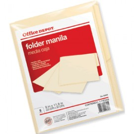 FOLDER CARTA OFFICE DEPOT MANILA CON 5 PIEZAS - Envío Gratuito