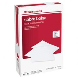 SOBRE BOLSA OFICIO OFFICE DEPOT BLANCO 50 PIEZAS - Envío Gratuito