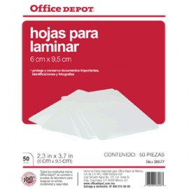 MICAS TERMICAS OFFICE DEPOT 6X9.5 CM CON 50 PIEZAS - Envío Gratuito