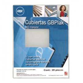 CUBIERTA GBPLACK GBC LISA TRANSPARENTE C/20 PIEZAS - Envío Gratuito