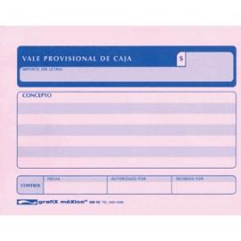 VALE PROVISIONAL DE CAJA GRAFIX 3 PAQUETES CON 50 - Envío Gratuito