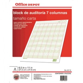 BLOCK AUDITORIA OFFICE DEPOT - Envío Gratuito