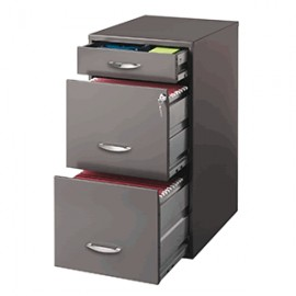 ARCHIVERO OFFICE DESIGNS 3 GAVETAS CHARCOAL - Envío Gratuito