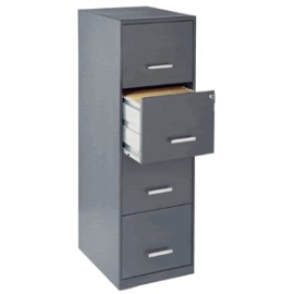 ARCHIVERO OFFICE DESIGNS DE 4 GAVETAS CHARCOAL - Envío Gratuito