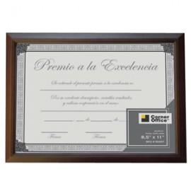 MARCO FRAGMENTS PARA DIPLOMA DE MADERA 11X8.5 CAFE - Envío Gratuito