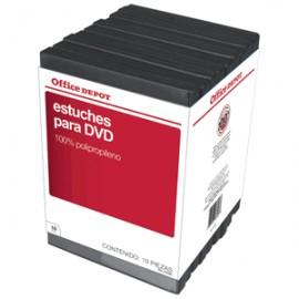 ESTUCHES PARA DVD OFFICE DEPOT CON 10 PIEZAS - Envío Gratuito