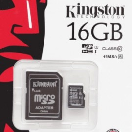 TARJETA MICRO SD KINGSTON 16GB CLASE 10 - Envío Gratuito