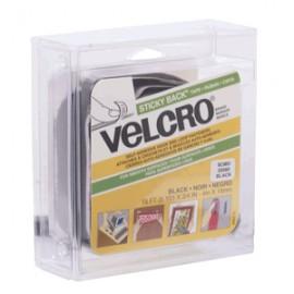 VELCRO STICKY BACK NEGRO ROLLO 19MM X 4M - Envío Gratuito