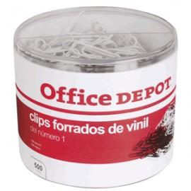 CLIPS BLANCO Y NEGRO 500PZ ESTANDAR OFFICE DEPOT - Envío Gratuito