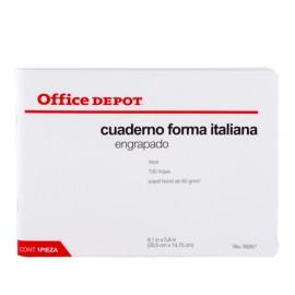 CUADERNO ITALIANA ENGRAPADO RAYA OFFICEDEPOT 100 H - Envío Gratuito