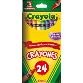 CRAYON ESTANDAR CRAYOLA COLORES SURTIDOS CAJA C/24 - Envío Gratuito