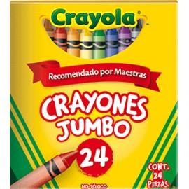 CRAYONES JUMBO CRAYOLA COLORES SURTIDOS C/24 - Envío Gratuito