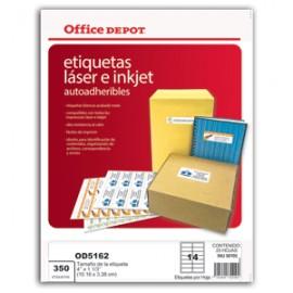 ETIQUETAS LASER INKJER 4X1 1/3 OFFICE DEPOT 350 - Envío Gratuito