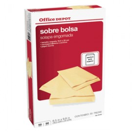 SOBRE DE PAPEL ESQUELA OFFICE DEPOT MANILA 50 PZ - Envío Gratuito
