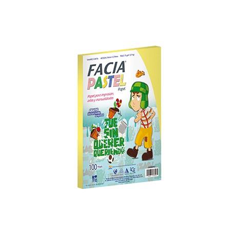 PAPEL PASTEL CANARIO PAQUETE CON 100 HOJAS FACIA - Envío Gratuito