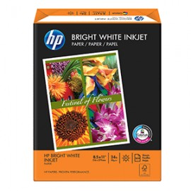 PAPEL BRIGHT WHITE CARTA RESMA CON 500 HOJAS HP - Envío Gratuito