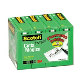 CINTA ADHESIVA SCOTCH 810 MAGICA 18MM X 33M - Envío Gratuito