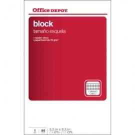 BLOCK ESQUELA OFFICE DEPOT 80 HOJAS CUADRO CHICO - Envío Gratuito