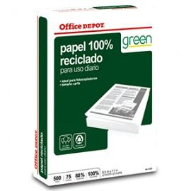 RESMA PAPEL RECICLADO 100 OFFICE DEPOT CARTA - Envío Gratuito